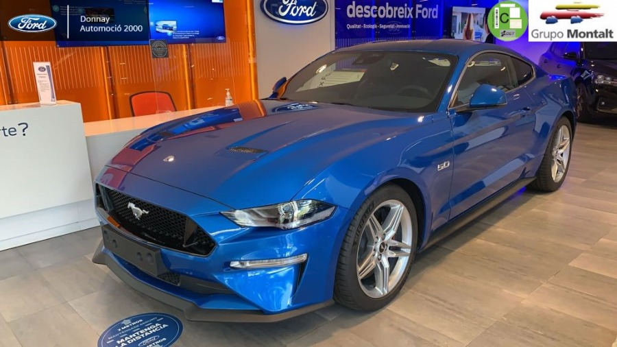 FORD Mustang Azul Gasolina Automático Coupe 2 puertas 2020